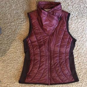 Athleta wine colored vest